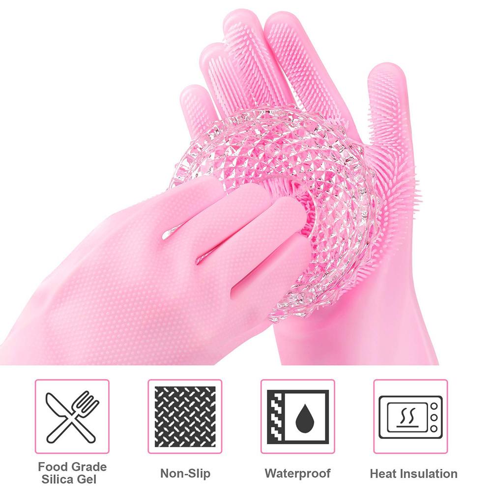 Peinture Pour Lave Vaisselle gants de nettoyage cuisine en latex durable à manche longue