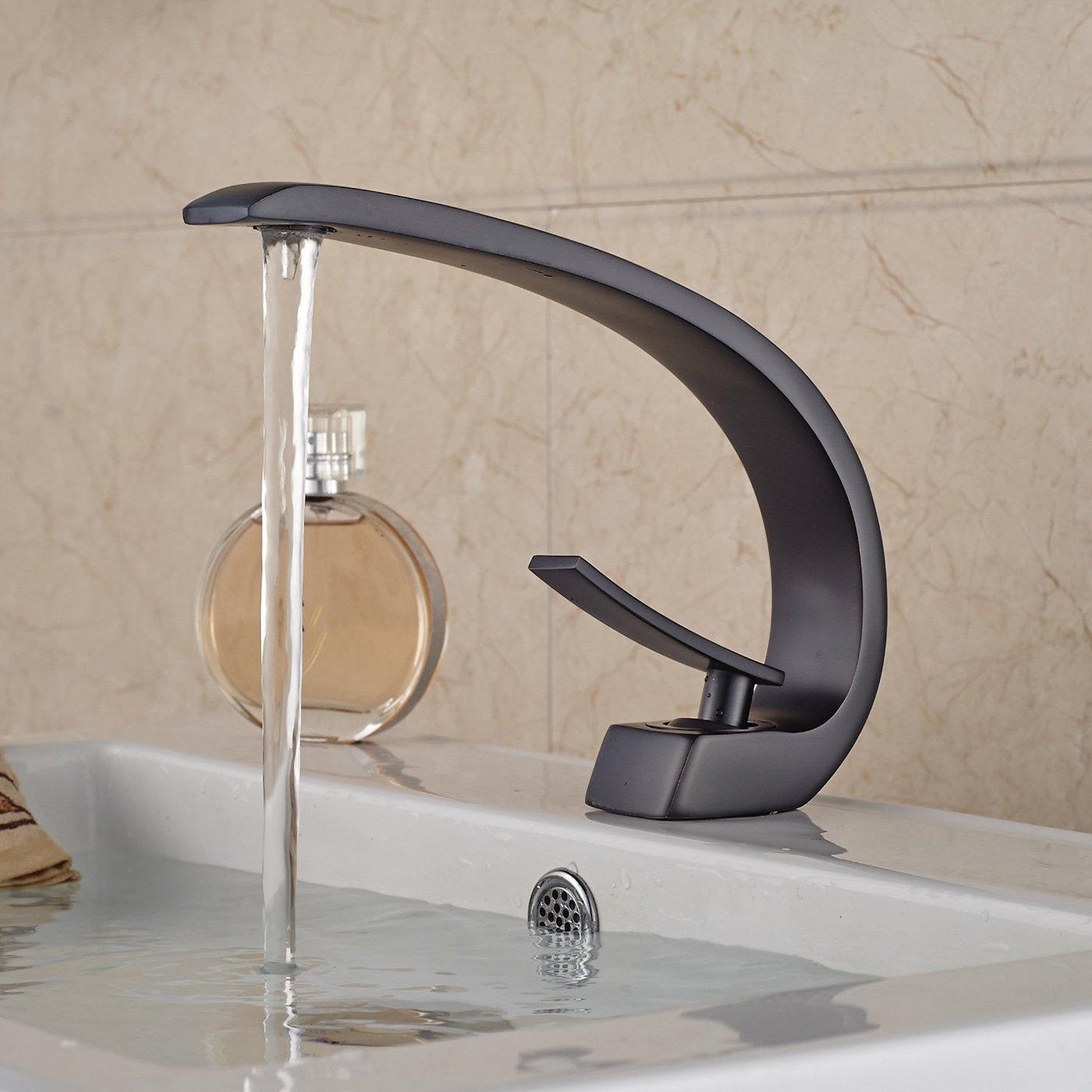 Robinet salle de bain Levier unique traditionnel Robinet lavabo Un ...