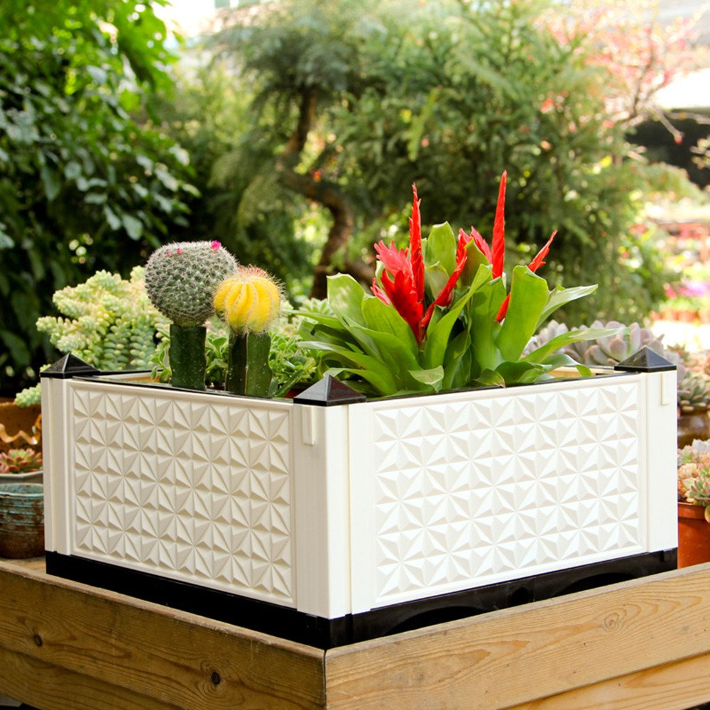 Details about Vegetable Garden Raised Bed Easy Maintenance Outdoor on raised tree planter, raised box planter, raised rectangle planter, raised bamboo planter,
