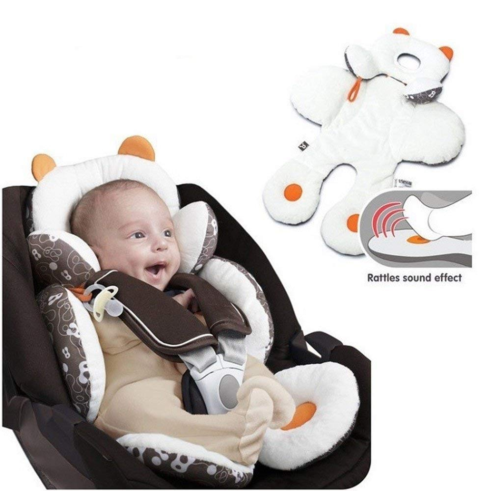 Breathable Organic Cotton Seat Pad Liner Head /& Body Support Pillow for Car Seats and Strollers