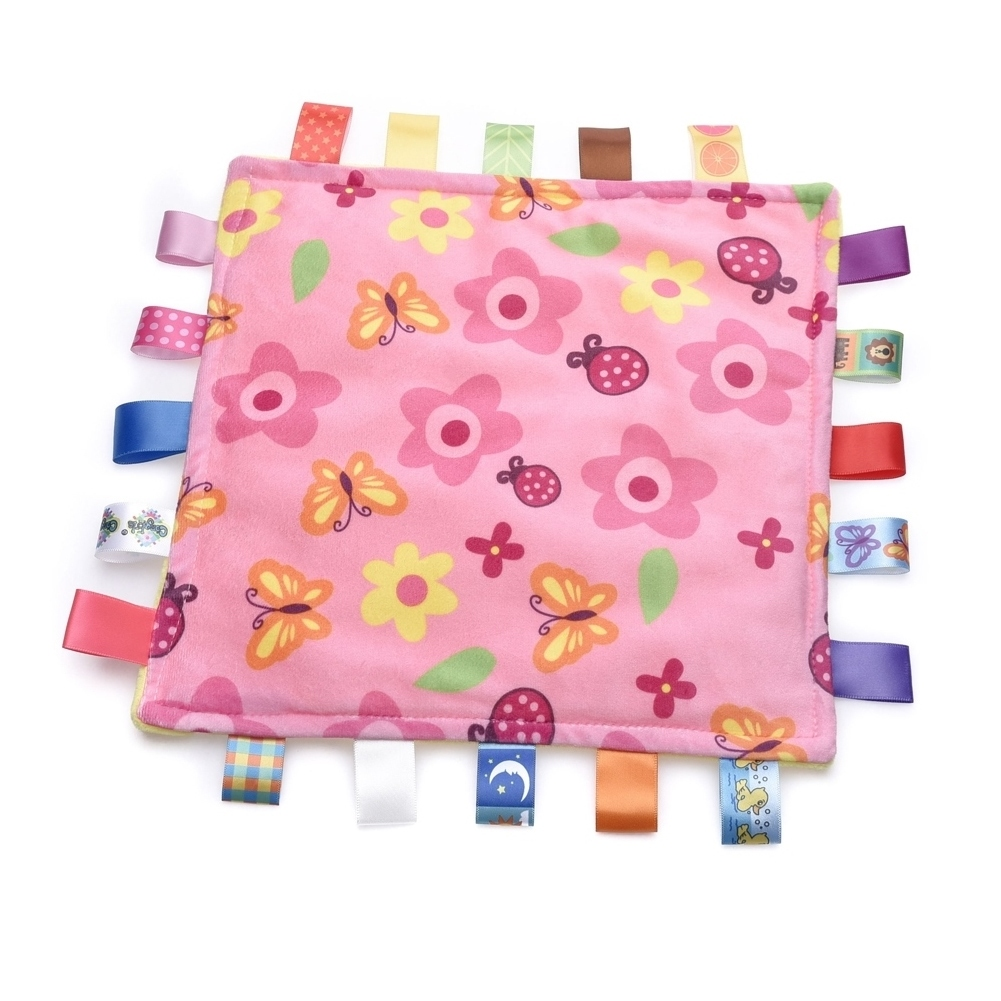 Top Quality Satin Tags Tag Comforter Blankie Personalised Free! Baby Taggy