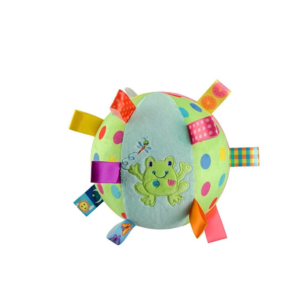 Baby Toddler Kids Colorful Soft Plush Rattle Ball Hand Grasp Bell Musical Toy G