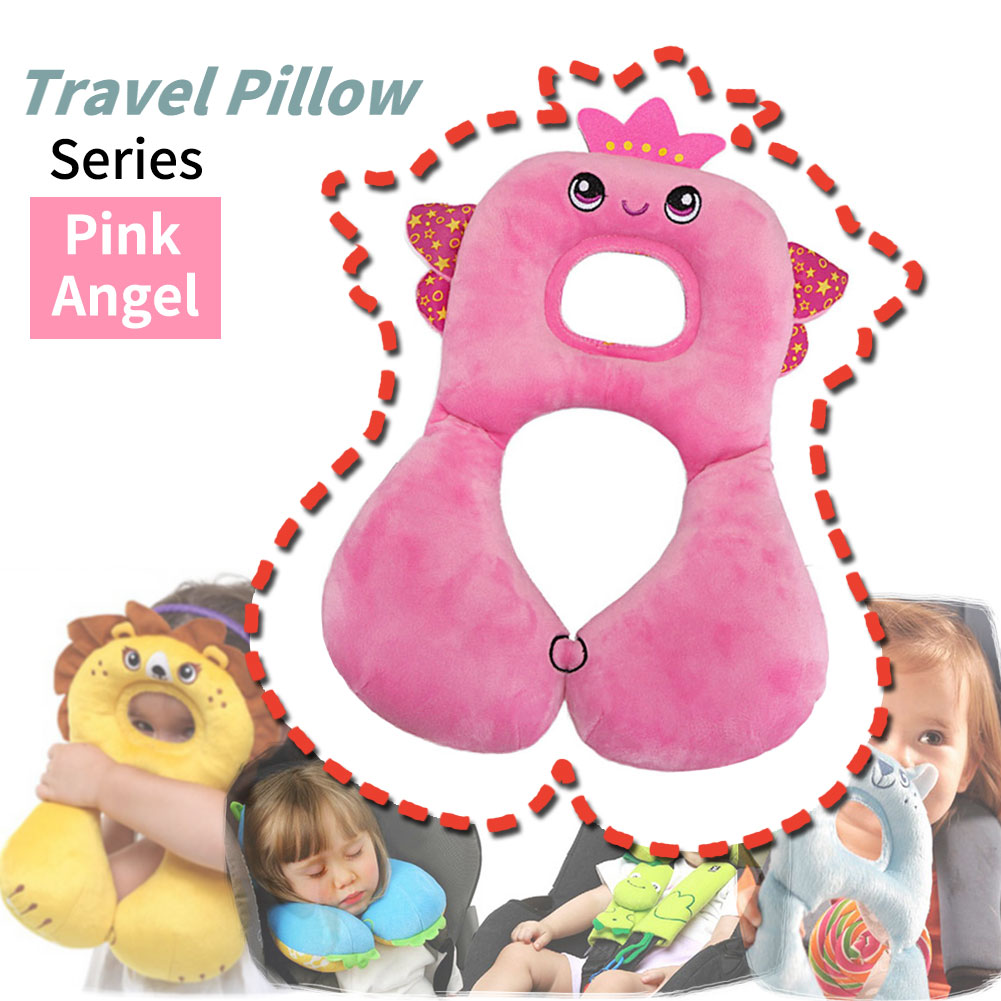 Baby Car Seat Headrest Soft Pillow Head /& Neck Support for Car Stroller Yellow Chick Fit 1-4 Year-Old Toddlers